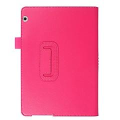 お買い得  タブレット用ケース-ケース 用途 Huawei MediaPad MediaPad T3 10(AGS-W09, AGS-L09, AGS-L03) フルボディーケース ソリッド ハード PUレザー のために Huawei MediaPad T3 10(AGS-W09, AGS-L09,