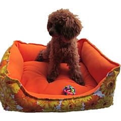 お買い得  犬用品&グルーミング用品-犬 ベッド ペット用 マット / パッド フラワー 洗濯可 イエロー / ローズ ペット用