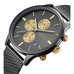 cheap Mechanical Watches-Men's Wrist Watch Japanese Calendar / date / day / Water Resistant / Water Proof / Creative Stainless Steel Band Charm / Luxury / Vintage Black / Silver / Gold / Large Dial / Sony S626 / Two Years