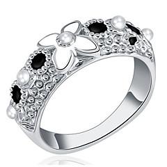 Dame Båndringe Enkelt design Kærlighed Sexet Mode Personaliseret Sød Stil luksus smykker Klassisk Elegant Legering Blomstformet Smykker