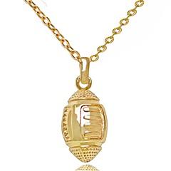 preiswerte Halsketten-Herrn Damen Anhängerketten - 18K Gold Personalisiert, Luxus, Retro, Gothic Gold, Silber Modische Halsketten Schmuck Für Hochzeit, Party, Neues Baby, Abschluss, Geschenk, Schultaschen