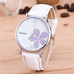 Men's Women's Fashion Watch Wrist watch Unique Creative Watch Chinese Quartz PU Band Flower Black White Red Brown