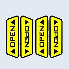 veel auto open deur waarschuwing reflecterende stickers akkoord voetgangers in rijveiligheid effect elke auto noodzakelijke keuze (4 stuks)