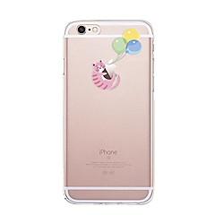 Назначение iPhone X iPhone 8 Чехлы панели Прозрачный С узором Задняя крышка Кейс для Композиция с логотипом Apple Кот Воздушные шары