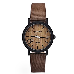 cheap Bracelet Watches-Men's Women's Quartz Wrist Watch Military Watch Sport Watch Chinese Water Resistant / Water Proof Punk Wooden PU Band Vintage Creative