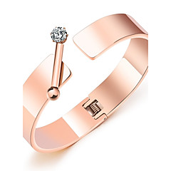 Жен. Браслет цельное кольцо Цирконий Базовый дизайн Кисточки Мода обожаемый Pоскошные ювелирные изделияЦирконий Титановая сталь
