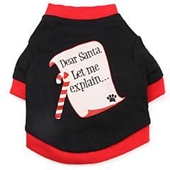 お買い得  犬用ウェア&アクセサリー-犬 スウェットシャツ 犬用ウェア 文字&番号 コットン コスチューム ペット用 男性用 / 女性用 クリスマス