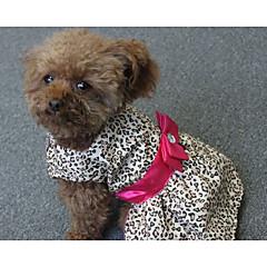 abordables Regalos para Amantes de Mascotas-Perro Vestidos Ropa para Perro Rayas Poliéster Disfraz Para mascotas Mujer Casual/Diario