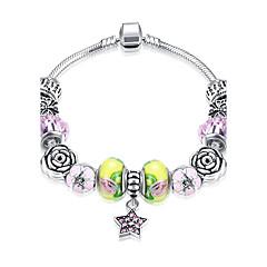 Mujer Pulseras charm Tenis pulseras Cristal Diamante sintético Opal sintético Geométrico Moda Zirconio Plateado Forma Geométrica Joyas