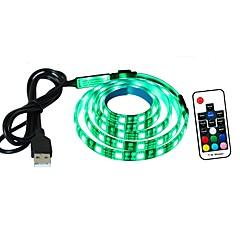 tv backlight led licht bar 1 meter 60 lichten 5050 led usb voeding rgb flexibel tape licht met 17 key rf afstandsbediening batterij