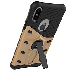Недорогие Кейсы для iPhone X-Кейс для Назначение Apple iPhone X iPhone 8 iPhone 8 Plus iPhone 7 Защита от удара со стендом Поворот на 360° Кейс на заднюю панель броня