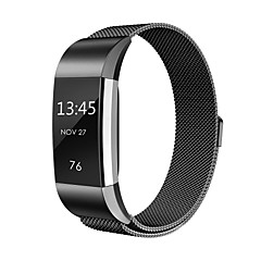 Fitbit Charge 2 Bands Metal Swees Milanese Loop Stainless Steel Replacement Accessories Magnetic Metal -black