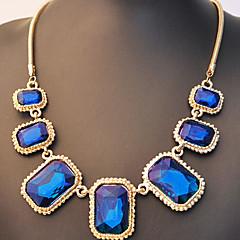 preiswerte Halsketten-Damen Anhängerketten / Statement Ketten - Strass Luxus, Modisch Dunkelblau, Dunkelgrün Modische Halsketten Schmuck Für Alltag, Normal
