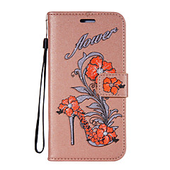 For Case Cover Card Holder Wallet with Stand Flip Pattern Full Body Case Flower Glitter Shine Hard PU Leather for Motorola Moto G4 Play