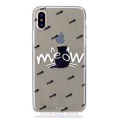 お買い得  iPhone 6 Plus ケース-ケース 用途 Apple iPhone X iPhone 8 耐衝撃 超薄型 パターン バックカバー 猫 ソフト TPU のために iPhone X iPhone 8 Plus iPhone 8 iPhone 7 Plus iPhone 7 iPhone 6s Plus