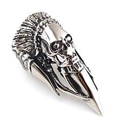 Муж. Классические кольца Панк Хип-хоп Нержавеющая сталь В форме черепа Бижутерия Назначение Halloween