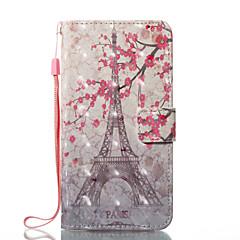 Назначение iPhone X iPhone 8 Чехлы панели Кошелек Бумажник для карт со стендом Флип С узором Магнитный Чехол Кейс для Эйфелева башня Цветы