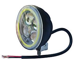 お買い得  カーアクセサリー-jiawen 3.5インチ5.5wラウンドブラックジープヘッドライト(DC 9-48v)のためのオートバイのヘッドライトを導いた