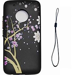 Недорогие Чехлы и кейсы для Motorola-Кейс для Назначение Motorola С узором Кейс на заднюю панель Цветы Мягкий ТПУ для Мото G5 Plus Moto G5