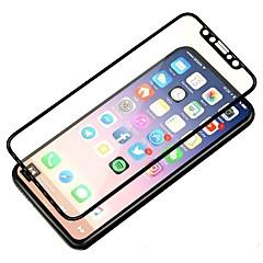 Недорогие Защитные пленки для iPhone X-Защитная плёнка для экрана Apple для Закаленное стекло 1 ед. Защитная пленка на всё устройство 3D закругленные углы Защита от царапин