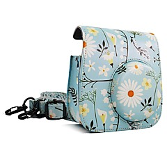 Fujifilm Instax Mini 9 Camera Case Light blue Chrysanthemum bag