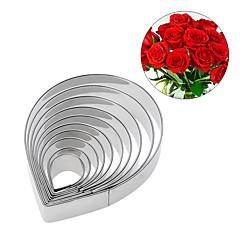 10 stk rustfrit stål rose blomst petal cookie cutter kiks fondant kage skimmel