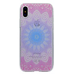 For iPhone X iPhone 8 iPhone 8 Plus Case Cover Transparent Pattern Back Cover Case Mandala Soft TPU for Apple iPhone X iPhone 8 Plus
