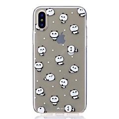 Недорогие Кейсы для iPhone 7 Plus-Кейс для Назначение Apple iPhone X iPhone 8 Защита от удара Ультратонкий С узором Кейс на заднюю панель Панда Мягкий ТПУ для iPhone X