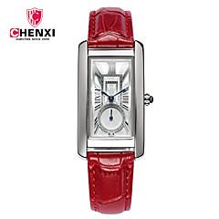 CHENXI® Dames Dress horloge Modieus horloge Chinees Kwarts Leer Band Amulet Informeel Cool Zwart Rood Bruin