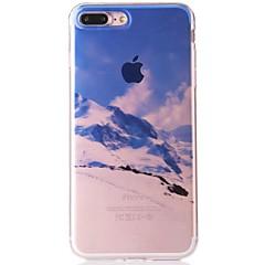 Недорогие Кейсы для iPhone-Кейс для Назначение Apple iPhone 7 IMD / С узором Кейс на заднюю панель Пейзаж Мягкий ТПУ для iPhone 7 Plus / iPhone 7 / iPhone 6s Plus