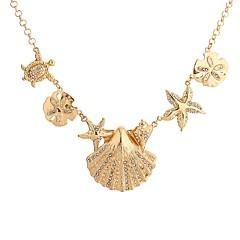 Жен. Ожерелья с подвесками В форме звезды Бижутерия Черепаха Искусственный бриллиант Морская раковина Сплав Базовый дизайн По заказу