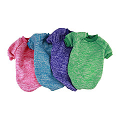 Χαμηλού Κόστους -Σκύλος Πουλόβερ Φόρμες Ρούχα για σκύλους Ζεστό Καθημερινά Μονόχρωμο Φούξια Κόκκινο Πράσινο Μπλε Ροζ Στολές Για κατοικίδια