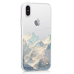 Недорогие Кейсы для iPhone X-Кейс для Назначение Apple iPhone X iPhone X iPhone 8 iPhone 8 Plus Ультратонкий Прозрачный С узором Кейс на заднюю панель Пейзаж Мягкий