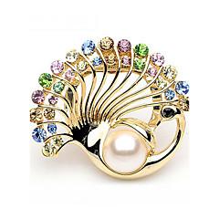 Dames Broches Imitatie Parel Bergkristal Modieus Luxe Sieraden Imitatieparel Strass Sieraden Sieraden Voor Bruiloft