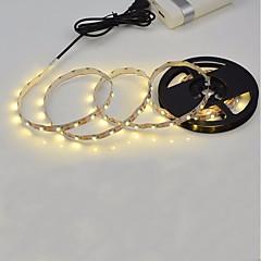 La fuente de alimentación del usb 3m 11w llevó la lámpara de la luz de tira 180leds 2835smd la luz blanca blanca caliente llevó la lámpara