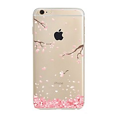 Per iPhone X iPhone 8 Custodie cover Transparente Fantasia/disegno Custodia posteriore Custodia Fiore decorativo Morbido TPU per Apple