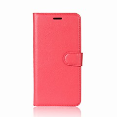 For Case Cover Card Holder Wallet with Stand Flip Full Body Case Solid Color Hard PU Leather for LG LG K10 (2017) LG K8 (2017) LG K8 LG