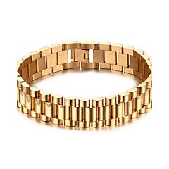 voordelige armband-Heren Armbanden met ketting en sluiting Punk Rock Titanium Staal Lijnvorm Sieraden Voor Feest