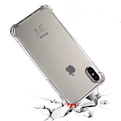 Назначение iPhone X iPhone 8 iPhone 8 Plus Чехлы панели Защита от удара Полупрозрачный Задняя крышка Кейс для Сплошной цвет Мягкий