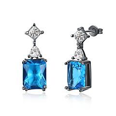 Dames Druppel oorbellen Ring oorbellen Kubieke Zirkonia Zirkonia Modieus PERSGepersonaliseerd Zirkonia Kubieke Zirkonia Geometrische vorm