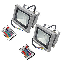 2 db hkv® 10w 900-1000 lm rgb vízálló festék led reflektor beépített led ac85-265v