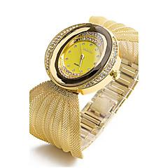 preiswerte Tolle Angebote auf Uhren-Damen Armband-Uhr Kreativ Imitation Diamant Legierung Band Analog Charme Luxus Glanz Silber / Gold - Gold Silber