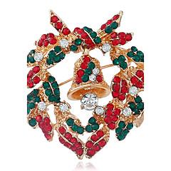 お買い得  ブローチ-女性用 ブローチ  -  ラインストーン ファッション ブローチ レッド 用途 クリスマス / ストリート