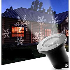 led snowflake 12w屋外芝生の雪片ランプac100-240vクールな白1個