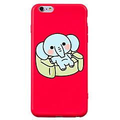 Назначение iPhone 7 iPhone 7 Plus Чехлы панели Защита от удара С узором Задняя крышка Кейс для Животное Мультипликация Слон Мягкий Силикон