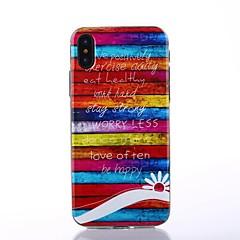 Назначение iPhone X Чехлы панели IMD С узором Задняя крышка Кейс для Полосы / волосы Слова / выражения Мягкий Термопластик для Apple