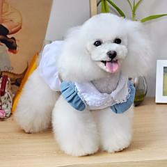 お買い得  犬用ウェア&アクセサリー-犬 ドレス 犬用ウェア カジュアル/普段着 ジーンズ ブルー コスチューム ペット用