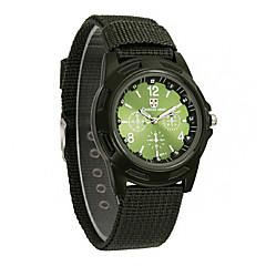 preiswerte Herrenuhren-Herrn Militäruhr / Armbanduhr Armbanduhren für den Alltag Stoff Band Charme Schwarz / Blau / Grün / Jinli 377