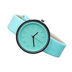 preiswerte Damenuhren-Damen Quartz Armbanduhr Armbanduhren für den Alltag Echtes Leder Band Freizeit Modisch Schwarz Weiß Blau Rot Orange Grün Rosa