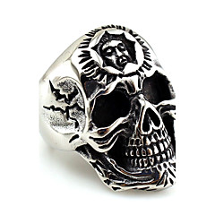 Муж. Жен. Кольца на вторую фалангу Массивные украшения Металлик Нержавеющая сталь В форме черепа Бижутерия Назначение Halloween